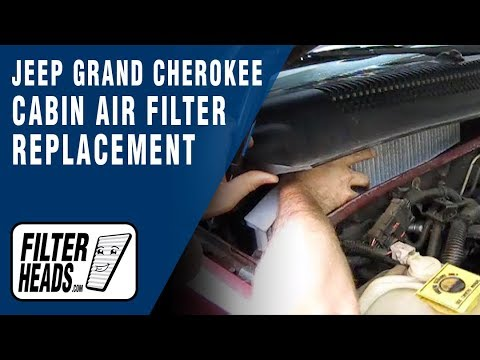 Cabin air filter replacement- Jeep Grand Cherokee