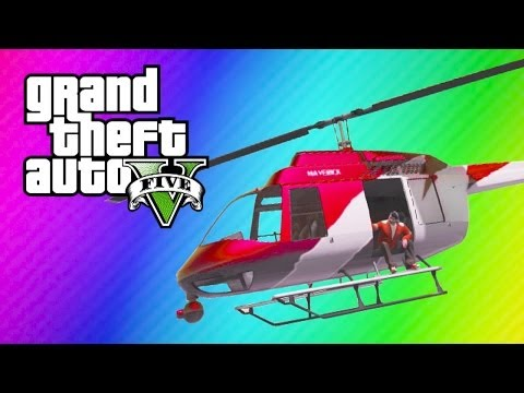 GTA 5 Online Funny Moments - Helicopter Windmill, Dangerous Treadmill, Have You Seen My BASEBALL?