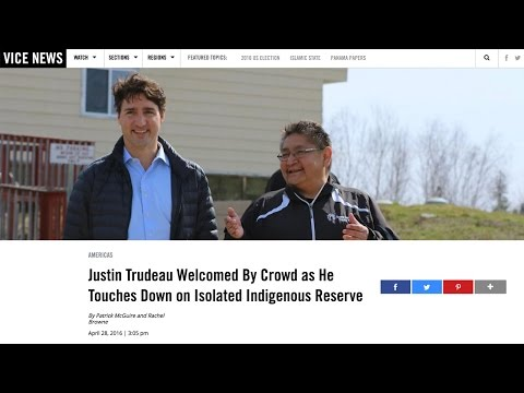 Justin Trudeau's historic Shoal Lake 40 reserve visit, excludes all media except VICE?