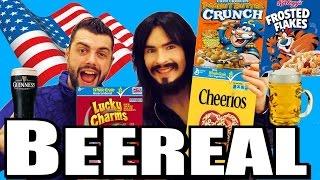 Irish People Taste American Cereals With Beer!  = 'BEEREAL'