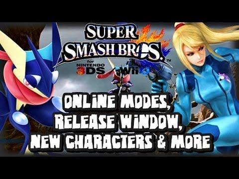 Super Smash Bros Wii U and 3DS - Release Window, New Characters, & Online Modes!