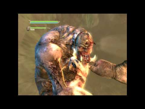 STAR WARS Force Unleashed II Gameplay (PC-HD) GOROK BOSS
