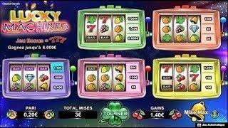 Jeux à gratter Lucky Machines 💰💰💰 ou l'on peut gratter de 1 à 5 Machines.
