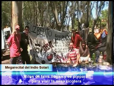 EL INDIO SOLARI EN TANDIL - 13-11-2010 -  PARTE 2 LA MISTICA RICOTERA EN TANDIL