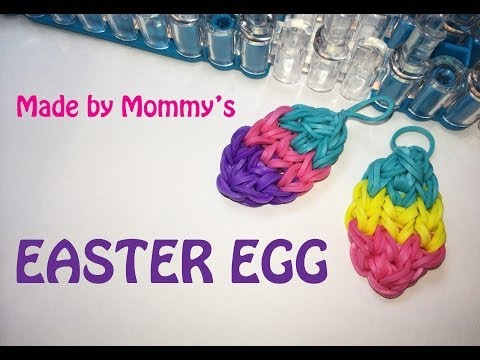 Rainbow Loom Charms: Easter Egg on the Loom
