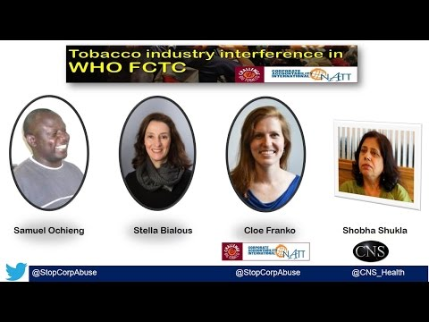[Webinar] Tobacco industry interference in WHO FCTC