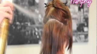 How To Apply Full Head Of Clip In Hair Extensions (3 Rows)