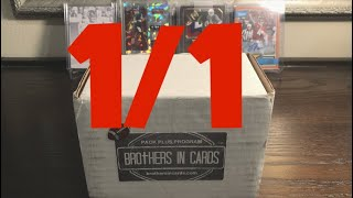 ONE OF ONE!!! Brothers in Cards June 2018 Football Pack Plus Program Gold Box! High End Pack!