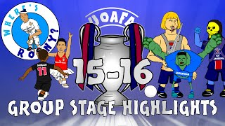 UCL Champions League Highlights - GROUP STAGE 2015/2016 (442oons cartoon goals)