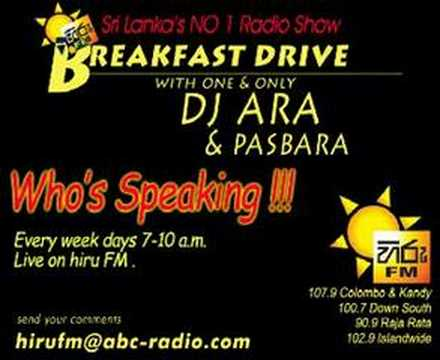 Hiru Fm Breakfast Drive who's Speaking toyota Kurulla video