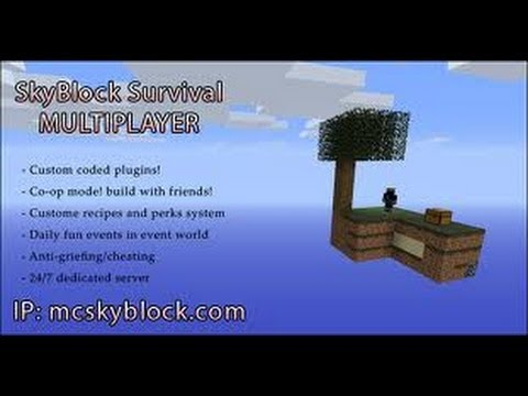 Minecraft Server 1.7.4 Skyblock   24/7   No Premium   No Hamachi   Video en Español