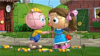 Oznoz Super Why! Three little Pigs Jigsaw Puzzle Game For Kids Rompecabezas