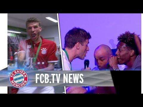 FC Bayern feiert das Double