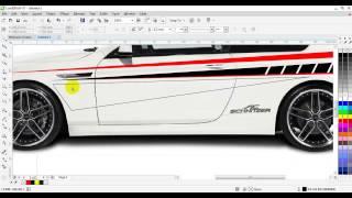cara membuat desain stiker mobil