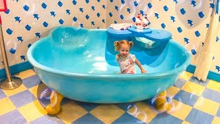 Funny Stacy and Hello Kitty Indoor Playground for kids, House of Kitty Video for kids