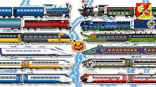 good to bad train Transformation for kids | Learn Train Names | Speed Train, Commuter Train l Ver 02