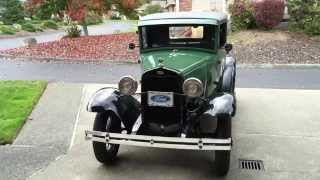 A Ride in a 1931 Ford Model A Pickup - Happy 90th Birthday, Dad!