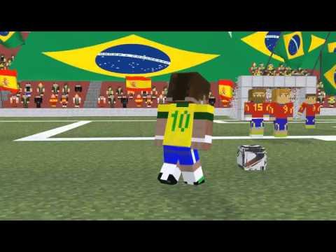 Minecraft animação de futebol