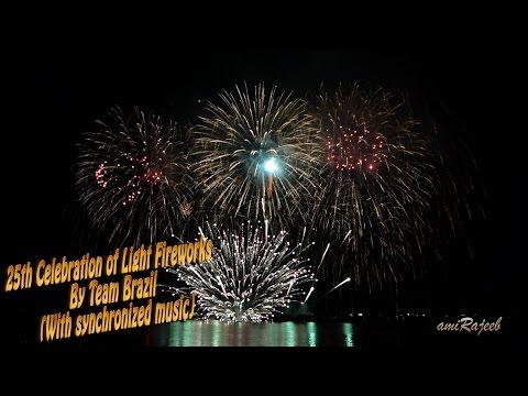 (With synchronized music) 25th Celebration of Light Fireworks (Team Brazil)