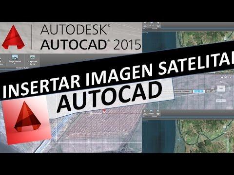 Como Insertar Imagen Satelital Georreferenciada, mapa de fondo con AutoCAD 2015