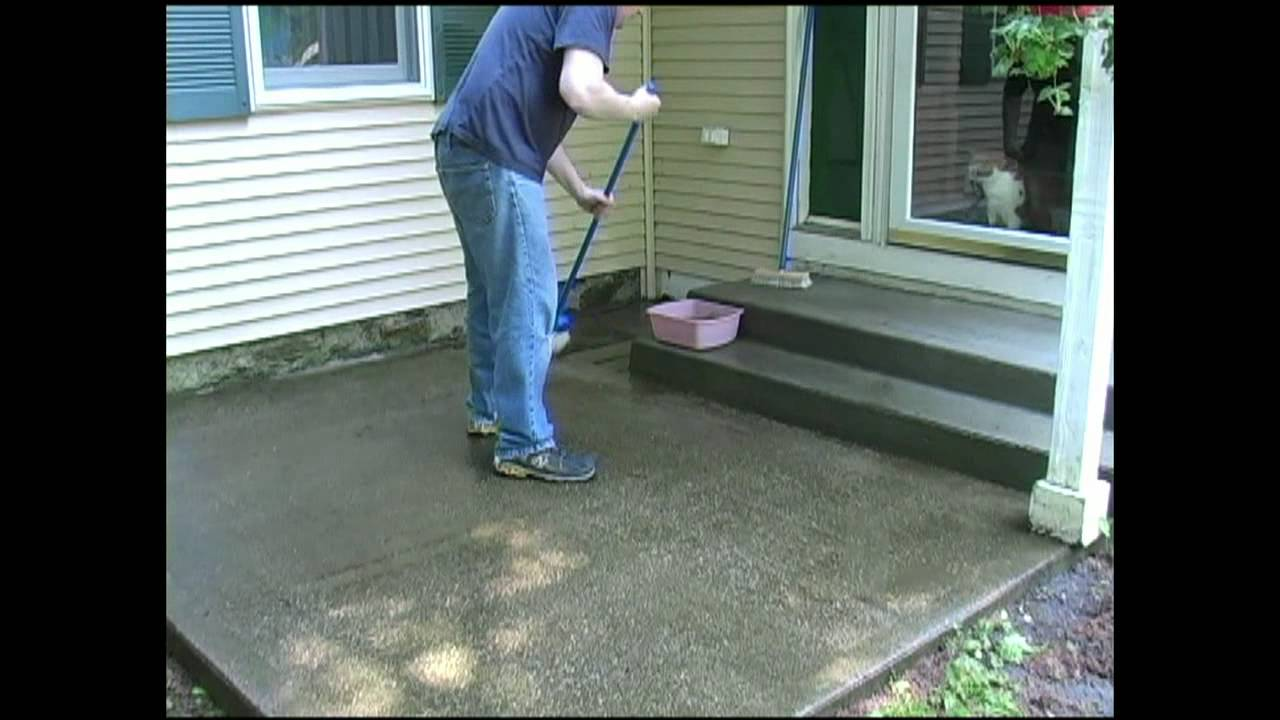 How to clean your concrete deck or slab by walt barrett for How do i clean concrete