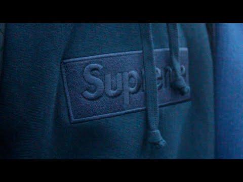 Supreme Box Logo Hoodie Navy Tonal F/W 2014 + Fit w/ Gotsweige PROD
