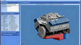 3D animation of a carbureted small block chevy
