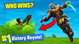 THANOS vs. BUSH NOOB - WHO WINS?? [Fortnite Battle Royale]