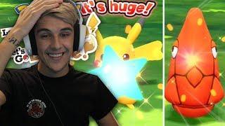 FIRST SHINY POKEMON IN LETS GO! - Pokémon Lets Go Pikachu & Eevee Shiny Pokemon Reaction!