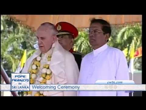 Papal visit to Sri Lanka - Arrival - Welcome - 2015-1-13