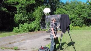 Old School Bus & Basketball Hoop - Large Format Film Photography with 8x10 Camera