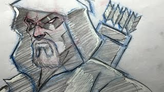 how to draw a superhero head