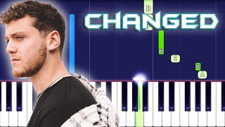 Bazzi - Changed Piano Tutorial EASY (COSMIC) Piano Cover