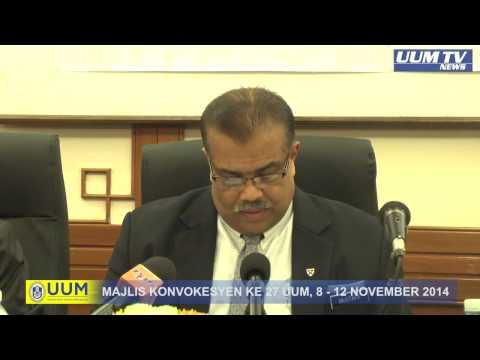 SIDANG MEDIA KONVOKESYEN KE-27 UNIVERSITI UTARA MALAYSIA (UUM)