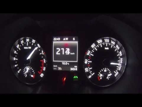 2013 Skoda Octavia 2.0 TDI DSG Top Speed Test [autoroom.pl]