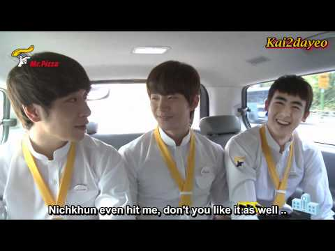 [ENG SUB] 2PM Mr.Pizza Delivery Event || Nichkhun  Junho  Chansung