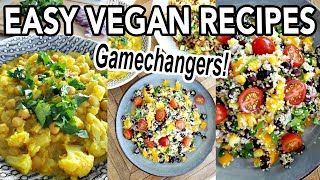 EASY VEGAN RECIPES FOR BEGINNERS (whole foods plant based, oil-free) // The Gamechangers Recipes