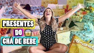ABRINDO TODOS OS PRESENTES DO CHÁ DE BEBE | Amanda Domenico