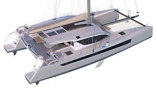 Slyder 49 catamaran 2018 walkthrough at La Grande Motte