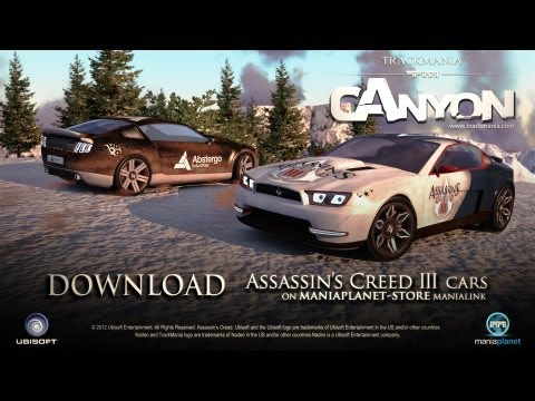 TrackMania² Canyon - Assassin's Creed 3 Car Skins Trailer