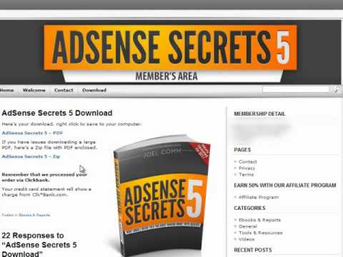 Adsense Secrets Review and Walkthrough