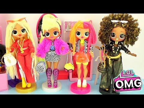 Мультик Куклы ЛОЛ в салоне красоты 3 серия OMG LOL Surprise Fashion Dolls Королева Пчелка