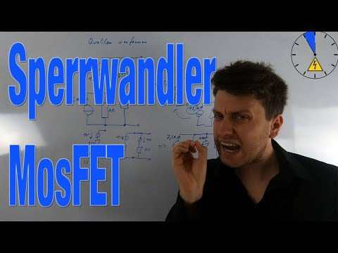 Sperrwandler MosFET Sperrspannung Transistor Fly Back Converter