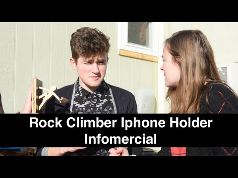 Iphone Rock Climber Holder Infomercial - A Satire on Commerials
