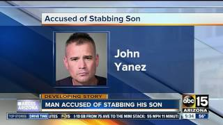Father accused of stabbing son, says it was an accident