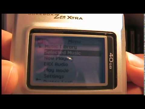 Creative Jukebox Nomad Zen Xtra 40GB MP3 Player from 2003