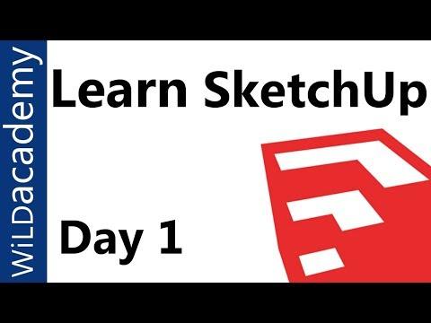 SketchUp Tutorial - 1 - Beginner SketchUp Tutorial