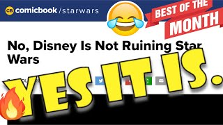 OF COURSE DISNEY IS RUINING STAR WARS.  KNOCK IT OFF.