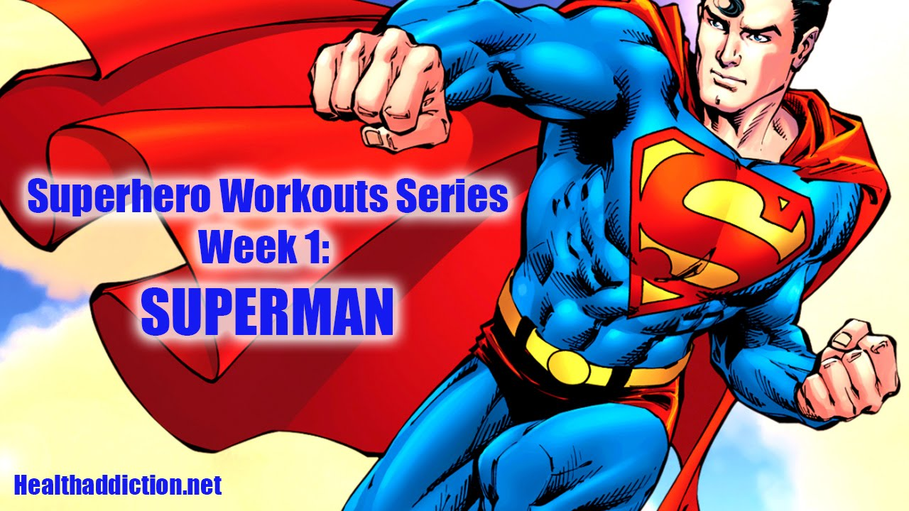 Superman Superhero Superman Workout Superhero