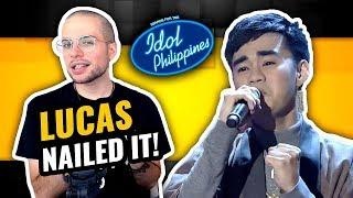 Lucas Garcia - Tagpuan   Live Round   Idol Philippines   MUSIC PRODUCER REACTION